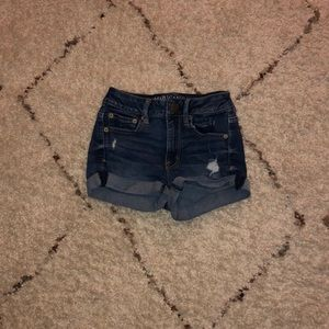 American Eagle Dark Denim Shorts
